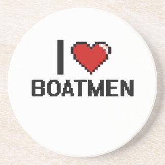 Amo a barqueros posavaso para bebida