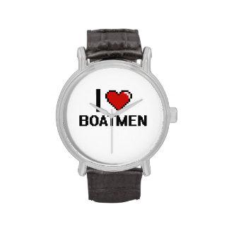 Amo a barqueros reloj de mano