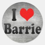 Amo a Barrie, Canadá. Amo a Barrie, Canadá Etiquetas Redondas