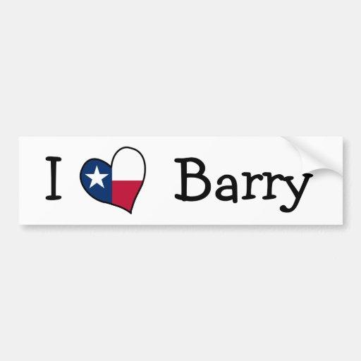 Amo a Barry Pegatina Para Auto