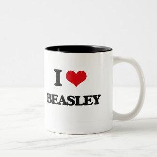 Amo a Beasley Taza Dos Tonos