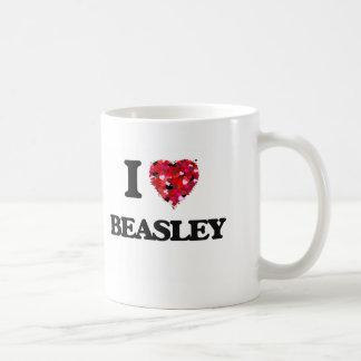 Amo a Beasley Taza Básica Blanca