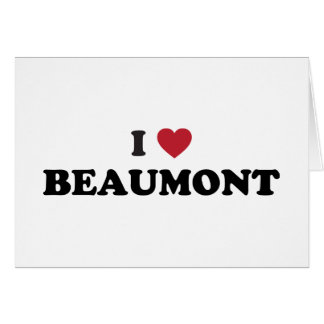 Amo a Beaumont Tejas Felicitacion
