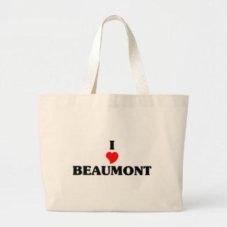 Amo a Beaumont Tx Bolsa Tela Grande