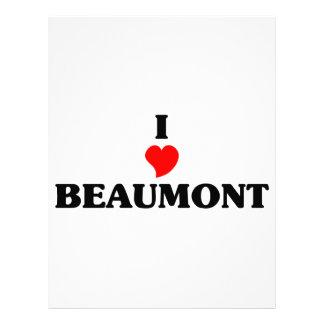 Amo a Beaumont Tx Membrete A Diseño
