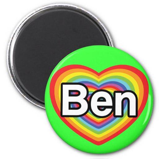 Amo a Ben: corazón del arco iris Iman