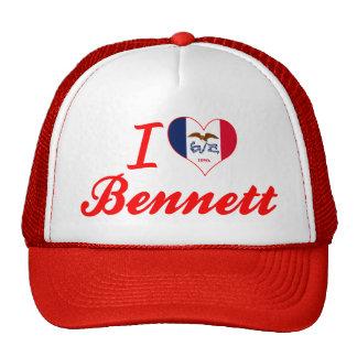 Amo a Bennett Iowa Gorro De Camionero