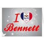 Amo a Bennett, Iowa Tarjeta