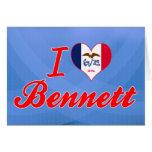 Amo a Bennett, Iowa Tarjetas