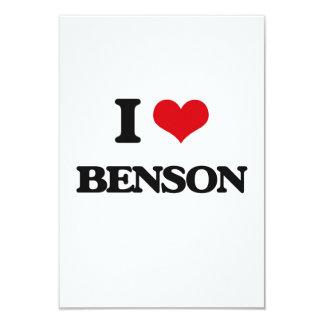 """Amo a Benson Invitación 3.5"""" X 5"""""""