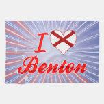 Amo a Benton, Alabama Toalla