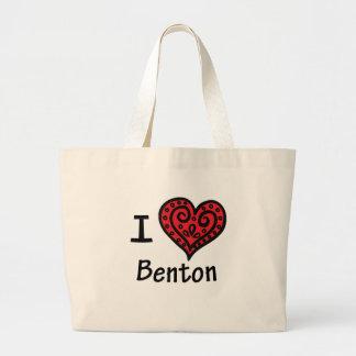 Amo a Benton Bolsa Tela Grande