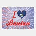 Amo a Benton, Maine Toalla