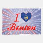 Amo a Benton, Nueva York Toallas De Cocina