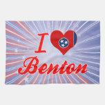 Amo a Benton, Tennessee Toallas De Mano