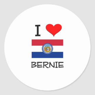 Amo a Bernie Missouri Pegatina Redonda