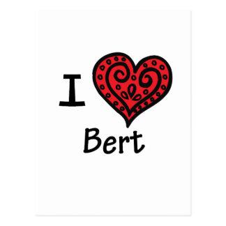 Amo a Bert (corazón Bert de I) Tarjetas Postales