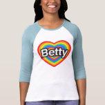 Amo a Betty. Te amo Betty. Corazón Camisetas