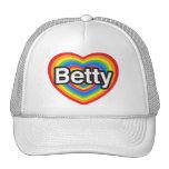 Amo a Betty. Te amo Betty. Corazón Gorras De Camionero