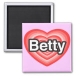 Amo a Betty. Te amo Betty. Corazón Iman