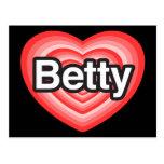 Amo a Betty. Te amo Betty. Corazón Postales