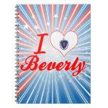 Amo a Beverly, Massachusetts Libros De Apuntes Con Espiral