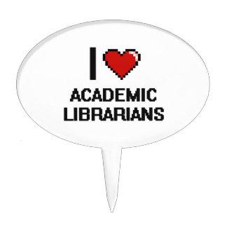 Amo a bibliotecarios académicos figuras para tartas