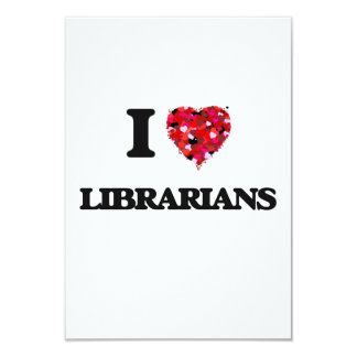 "Amo a bibliotecarios invitación 3.5"" x 5"""