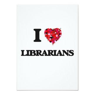 "Amo a bibliotecarios invitación 5"" x 7"""