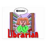 Amo a bibliotecarios tarjeta postal
