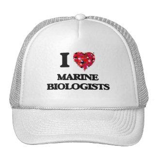 Amo a biólogos marinos gorras de camionero