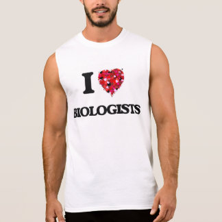 Amo a biólogos camisetas sin mangas