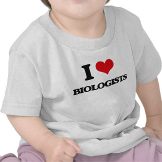 Amo a biólogos camisetas