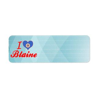 Amo a Blaine, Minnesota Etiqueta De Remite