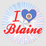 Amo a Blaine, Minnesota Pegatinas Redondas
