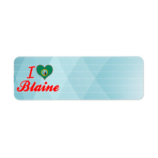 Amo a Blaine, Washington Etiqueta De Remite