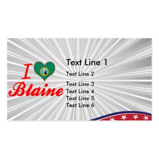 Amo a Blaine, Washington Tarjetas De Visita