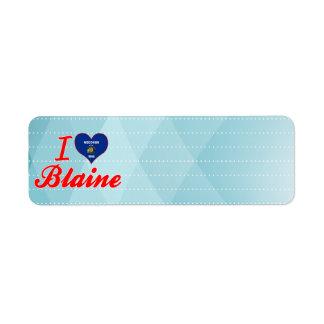 Amo a Blaine, Wisconsin Etiquetas De Remite