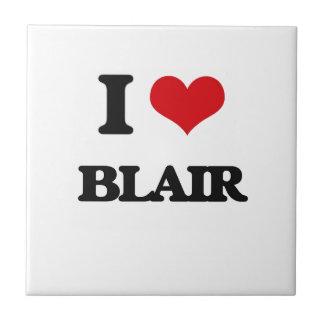 Amo a Blair Azulejo Cuadrado Pequeño