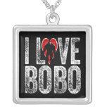 Amo a Bobo Pendientes Personalizados