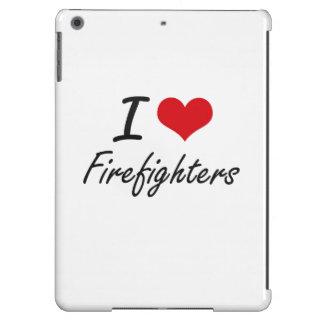 Amo a bomberos funda para iPad air