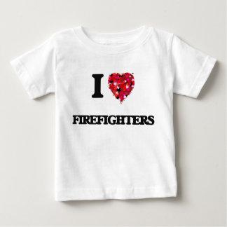 Amo a bomberos playera