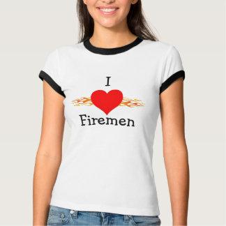 Amo a bomberos playeras