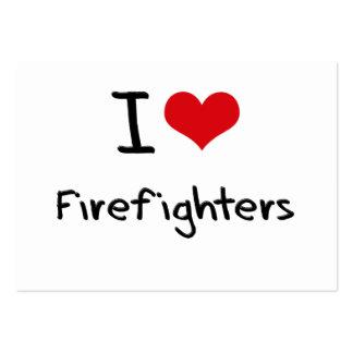 Amo a bomberos tarjeta de visita