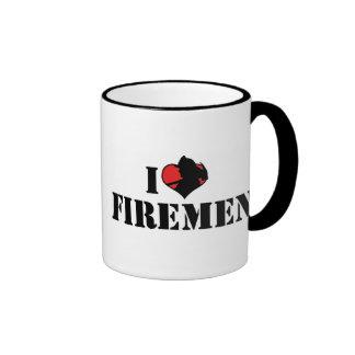 Amo a bomberos taza de dos colores