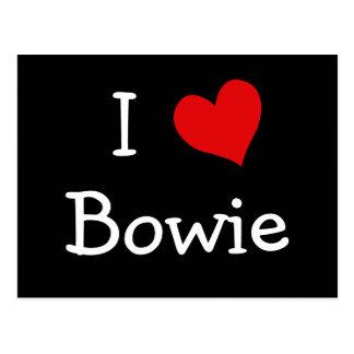 Amo a Bowie Tarjeta Postal