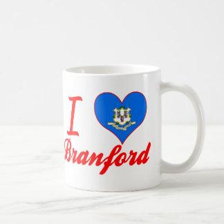 Amo a Branford, Connecticut Tazas