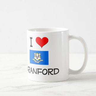 Amo a Branford Connecticut Tazas De Café