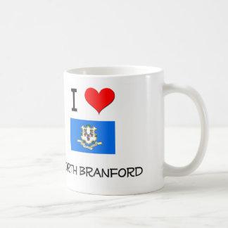 Amo a Branford del norte Connecticut Tazas