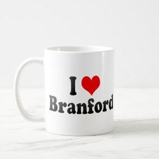 Amo a Branford, Estados Unidos Taza